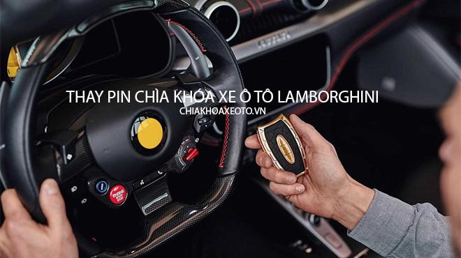 Thay pin chìa khóa xe ô tô Lamborghini