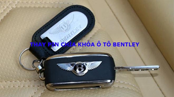 Thay pin chìa khóa xe ô tô Bentley